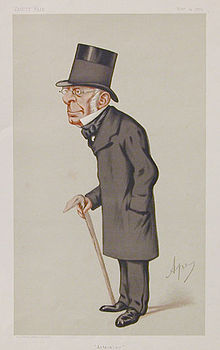 George Biddell Airy caricatured by Spy in Vanity Fair Nov 1875 Source: Wikimedia Commons