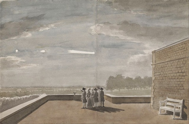 Paul Sandby The Meteor of August 18, 1783, as seen from the East Angle of the North Terrace, Windsor Castle.