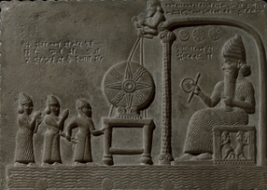 Stone tablet of Shamash, the Sun-god, from the ancient Babylonian city of Sippar. Credit: © Trustees of the British Museum.