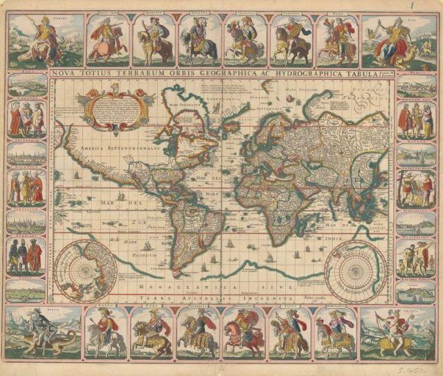 Frederik De Wit's 1654 Dutch Sea Atlas. Image courtesy of the Harvard Map Collection