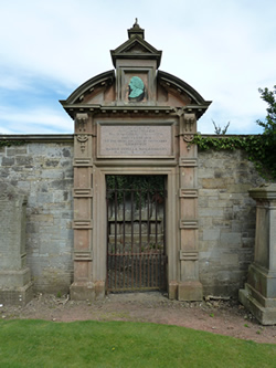 Mausoleum, bearing a profile in relief, erected in the mid-nineteenth century over Cullen's grave in the burial-ground at Kirknewton, Midlothian by the Royal College and the physician's descendants.