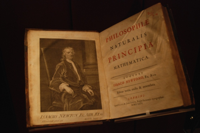 Philosophiae Naturalis Principia Mathemica, Titlepage and frontispiece of the third edition, London, 1726 (John Rylands Library)