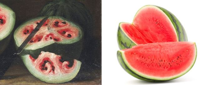 Christie Images LTD 2015/Shutterstock The watermelon, then and now.