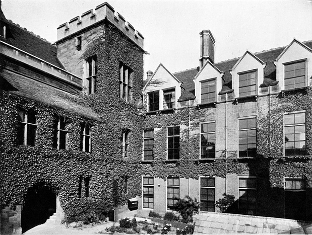 An early photograph of James Clerk Maxwell's original Cavendish Laboratory (built 1874). A large archway is due to be knocked through the ground floor of the right-hand wing. From: A History of the Cavendish Laboratory (1910). Photograph: A History of the Cavendish Laboratory (1910)