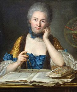 Émilie du Châtelet Portrait by Maurice Quentin de La Tour Source: Wikimedia Commons