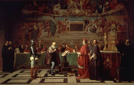 Galileo before the Holy Office, by Joseph-Nicolas Robert-Fleury