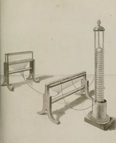An 1809 drawing of the electric telegraph. Source: Wikimedia Commons