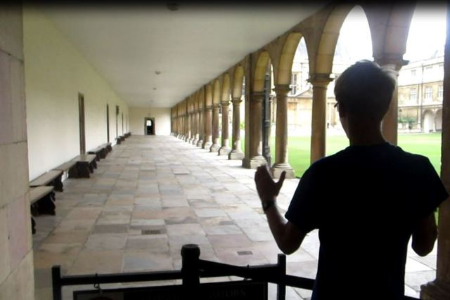 Newton's speed of sound experiment re-enacted at Trinity College, Cambridge