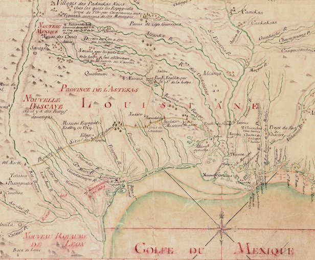 The French royal engineer, de Beauvilliers, drew this 1720 map of the entire hydrographic network of the Mississippi River Source: World Digital Library