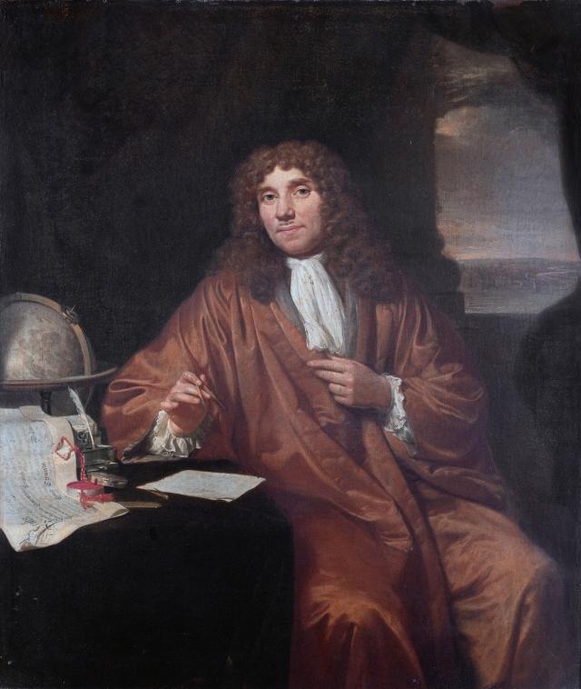 Antonie van Leeuwenhoek by Jan Verkolje, c.1680
