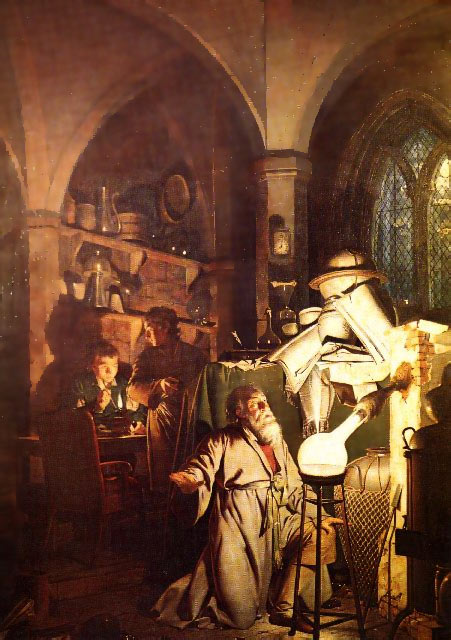The Alchemist in Search of the Philosopher's Stone, by Joseph Wright, 1771 Source: Wikimedia Commons