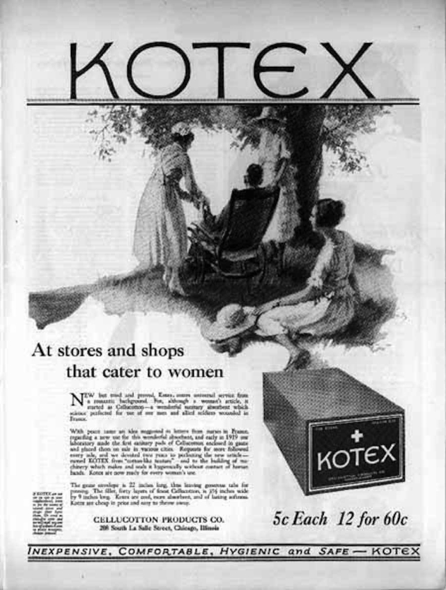 The first-ever Kotex advertisement, from January 1921