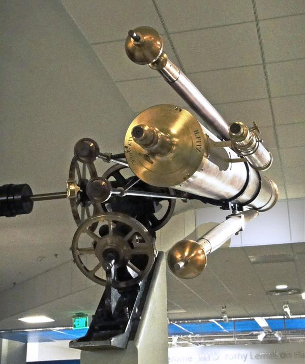 Maria Mitchell's telescope, at the Smithsonian National Museum of American History. Credit Dpbsmith / WGBH News