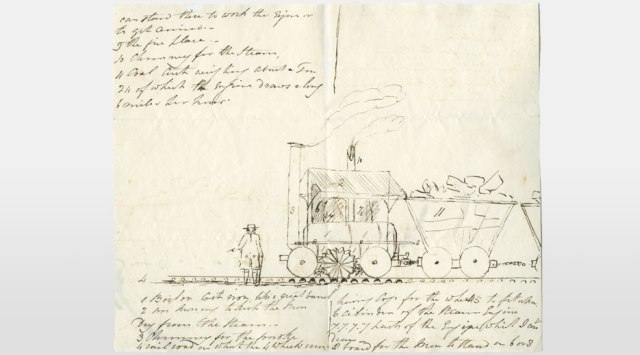 1812 The first effective locomotive-powered railway
