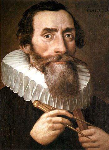 Johannes Kepler, 1610. Public domain via Wikimedia Commons.