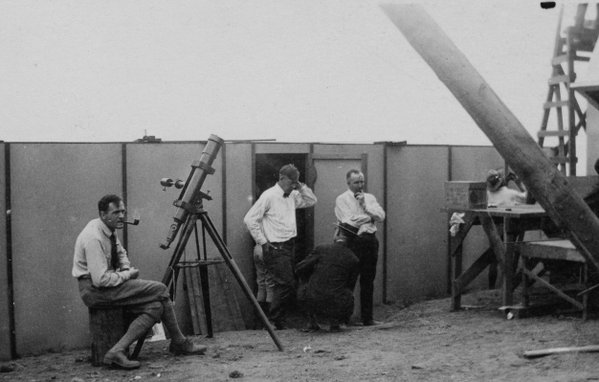 Edwin Hubble! Seen here in 1923 at a Carnegie solar eclipse expedition to Point Loma, CA.