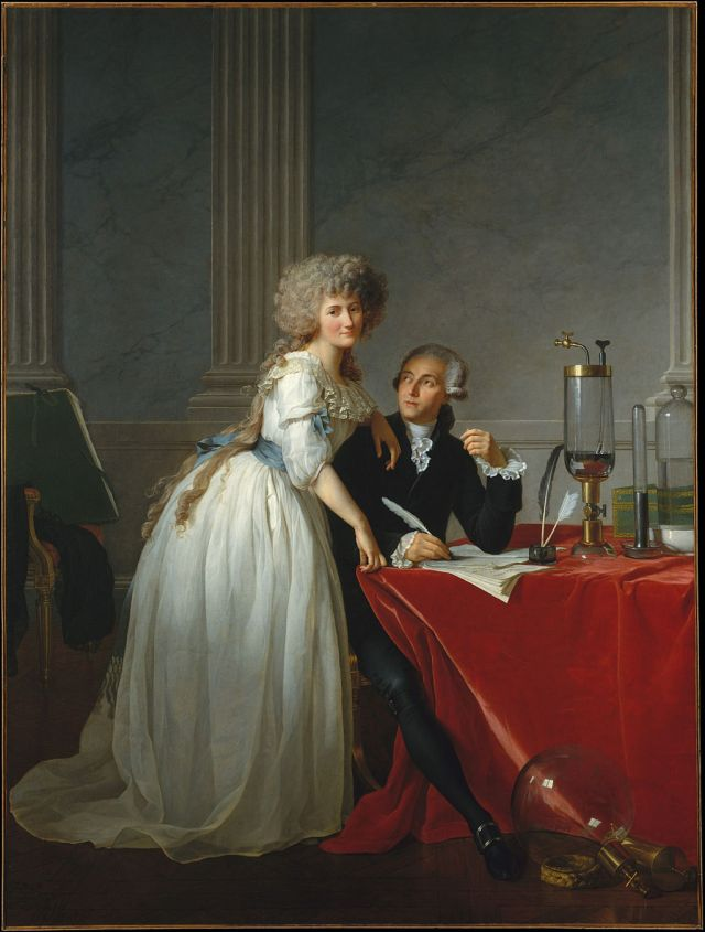 Portrait of M. and Mme Lavoisier, by Jacques-Louis David, 1788 (Metropolitan Museum) Source: Wikimedia Commons