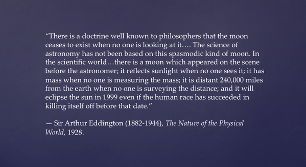 Eddington Quote