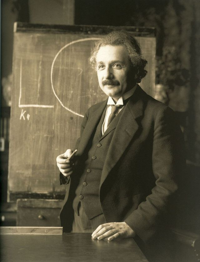 Albert Einstein during a lecture in Vienna in 1921 by F Schmutzer Source: Wikimedia Commons