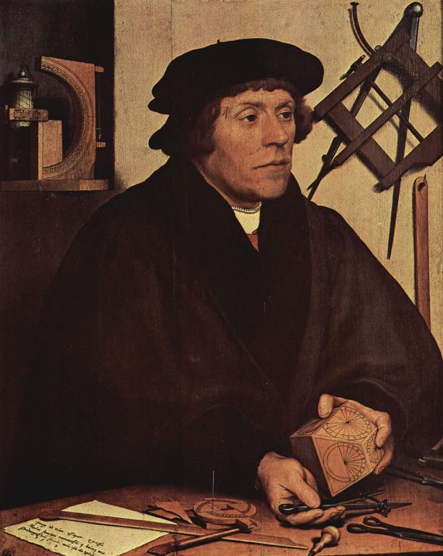 Nicholas Kratzer, 1528 painting by Hans Holbein the Younger Source: Wikimedia Commons