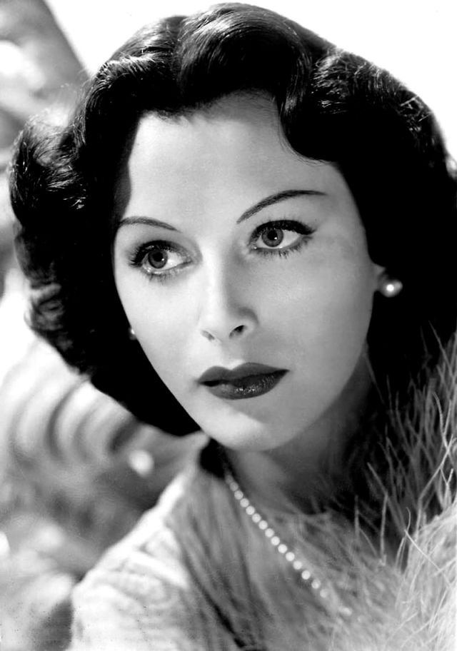 Hedy Lamarr Publicity photo, c. 1940 Source: Wikimedia Commons