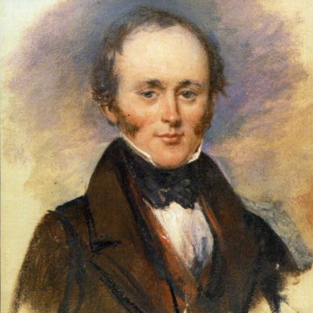 Charles Lyell at the British Association meeting in Glasgow 1840. Painting by Alexander Craig. Source: Wikimedia Commons