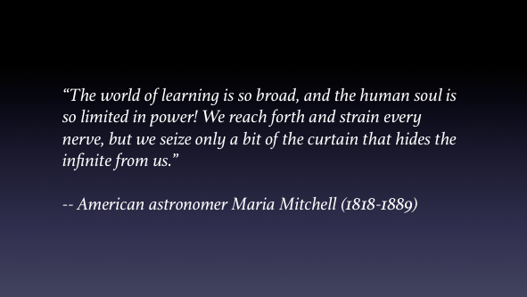 Maria Mitchell Quote