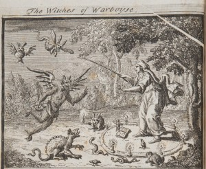 An early eighteenth-century depiction of a witch conjuring up demons to do her evil work. From: Richard Boulton, A Compleat History of Magick, Sorcery and Witchcraft … (London, 2 vols, 1715-1722), vol. 1, frontispiece.