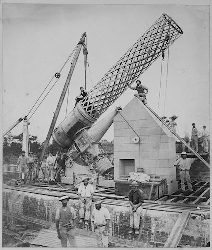 Erection of Great Melbourne Telescope, 1869 Source: Museum Victoria This image is: Public Domain