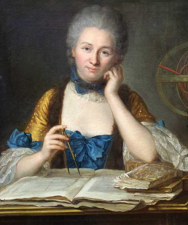 Gabrielle Émilie Le Tonnelier de Breteuil, marquise du Châtelet  Portrait by Maurice Quentin de La Tour Source: Wikimedia Commons