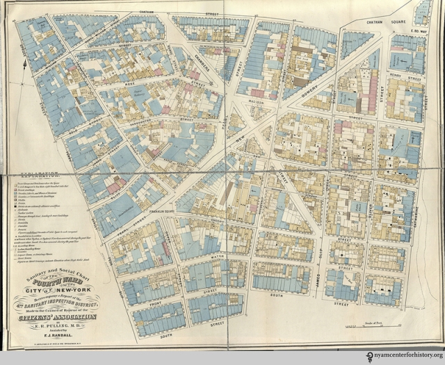 "A ""Sanitary and Social Chart"" of New York's 4th Ward. (Photo: Courtesy the New York Academy of Medicine)"