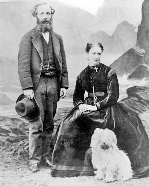 James and Katherine Maxwell, 1869 Source: Wikimedia Commons
