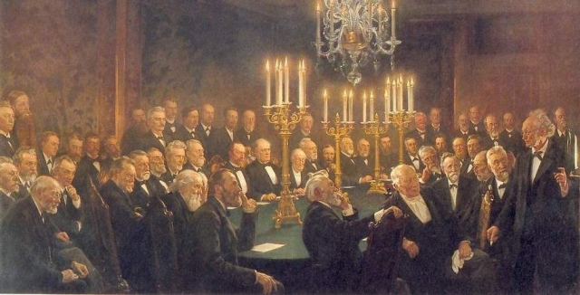 Members of the Royal Danish Academy of Sciences and Letters, painted by Peder Severin Krøyer Source: Wikimedia Commons
