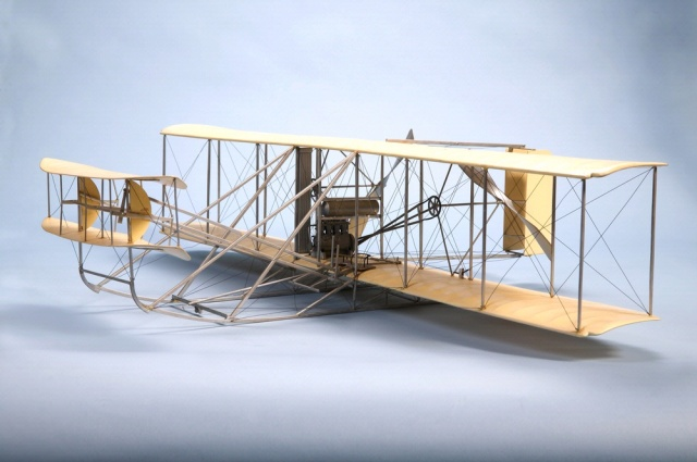 A refinement of the 1905 Flyer, the Wright Model A was flown on demonstration flights in Europe in 1908 and 1909. Source: Smithsonian National Air and Space Museum