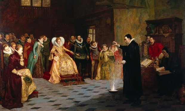 John Dee performing an experiment before Elizabeth I, by Henry Gillard Glindoni. Photograph: Wellcome Library