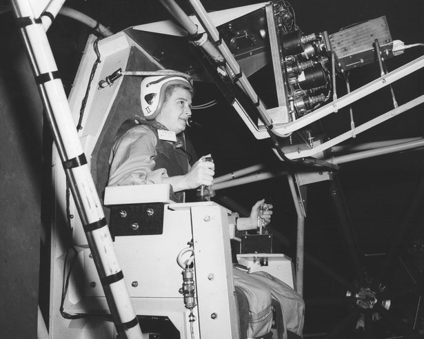 Jerrie Cobb undergoing physiological testing (NASA).