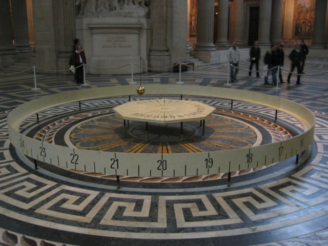 Foucault's Pendulum in the Panthéon, Paris Source: Wikimedia Commons