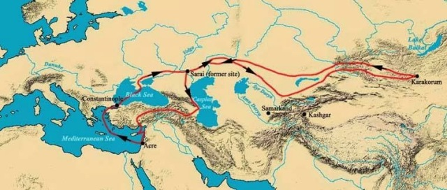 Voyage of William of Rubruck in 1253 – 1255