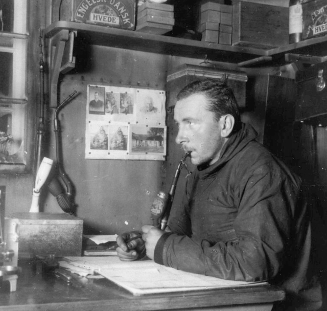 Alfred Wegener, in Greenland, 1930  (photo by Fritz Loewe)