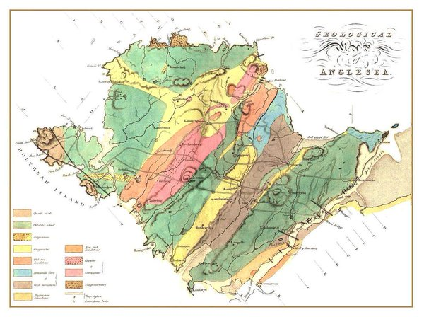 Geological map of Anglesey John S. Henslow 1821