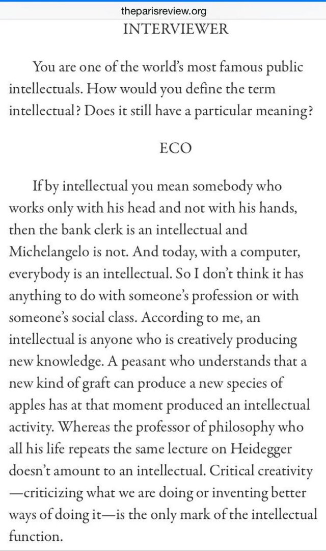 Eco intellectual