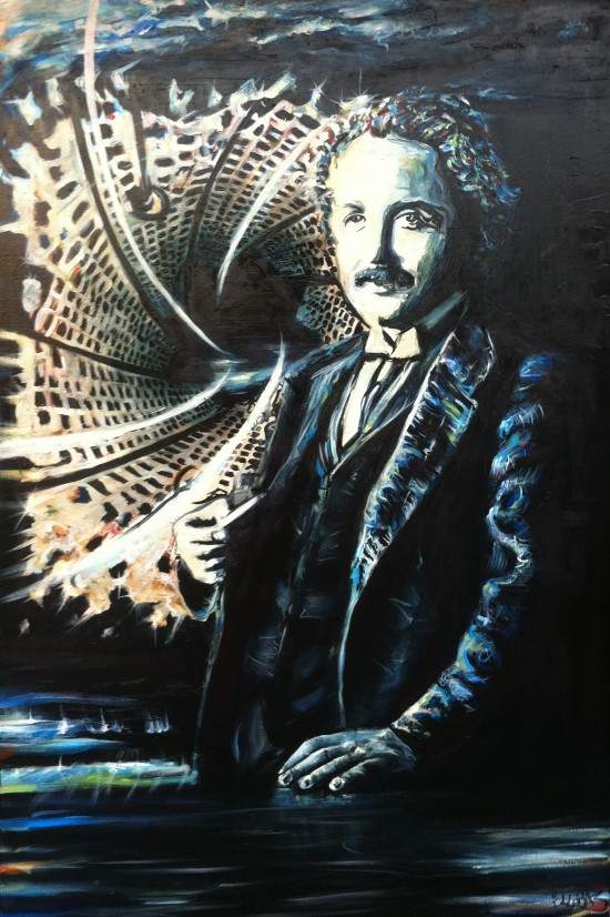 Albert Einstein, Oil on Canvas