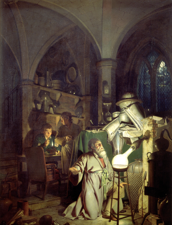 The Alchymist (Joseph Wright of Derby, 1771) Source: Wikimedia Commons