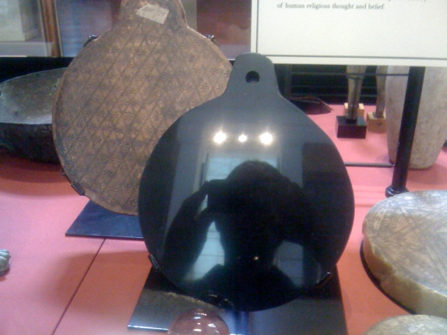 "Dee's obsidian Aztec ""Scrying Mirror"" Source: Wikimedia Commons"