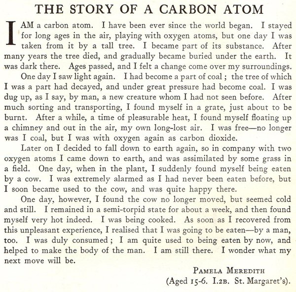 Story of the Carbon Atom