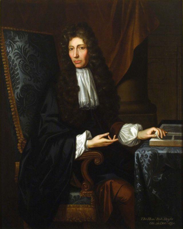 Robert Boyle by Johann Kerseboom, Gawthorpe Hall, 1689 CHF Source: Wikimedia Commons