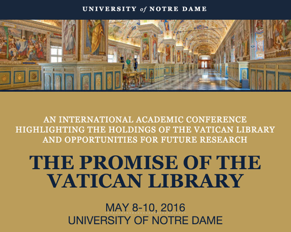 Vatican Library Conference