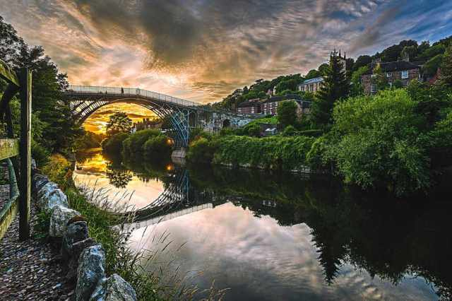 The Iron Bridge in Ironbridge. Photo by Jamie Ricketts.