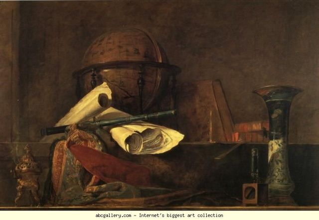 Jean-Baptiste-Simeon Chardin. The Attributes of the Sciences. 1731.