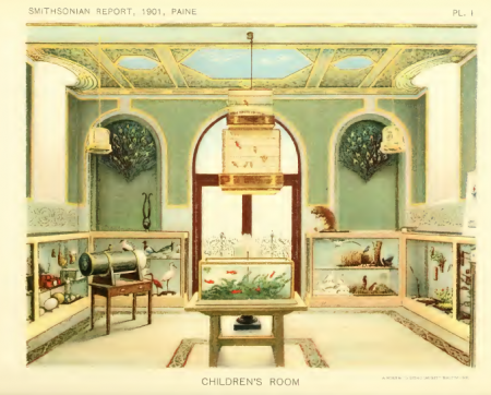An illustration of the Children's Room in the Smithsonian Castle. Annual Report of the Board of Regents of the Smithsonian Institution, 1901. Smithsonian Libraries.